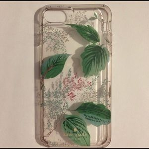 kate spade green leaves cover iPhone 6+, 7+, 8+